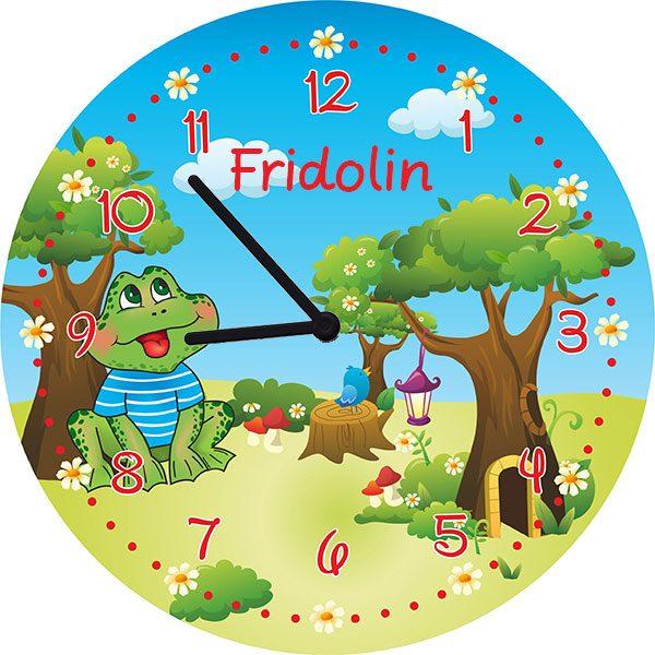 Kinderzimmeruhr Wanduhr Frosch