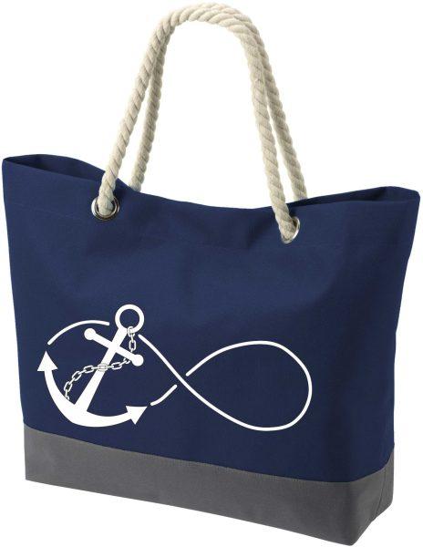 Shopper Bag Einkaufstasche Maritim Nautical Anchor Infinity