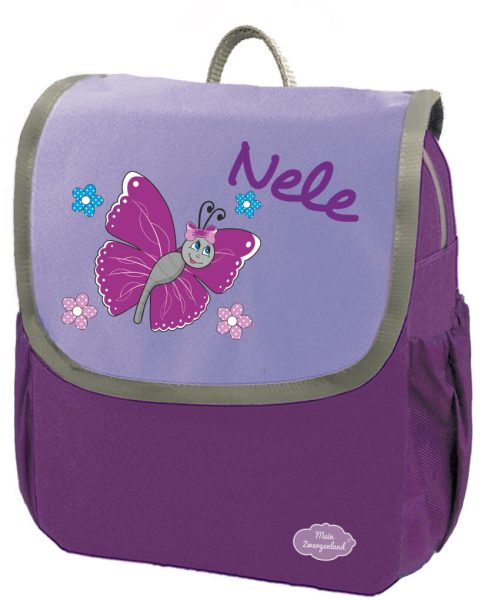 Kindergartenrucksack Happy Knirps NEXT mit Name Lila Schmetterling