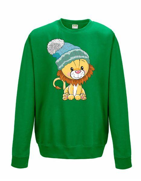 Sweatshirt Shirt Pullover Pulli Unisex Weihnachten Winter Löwe