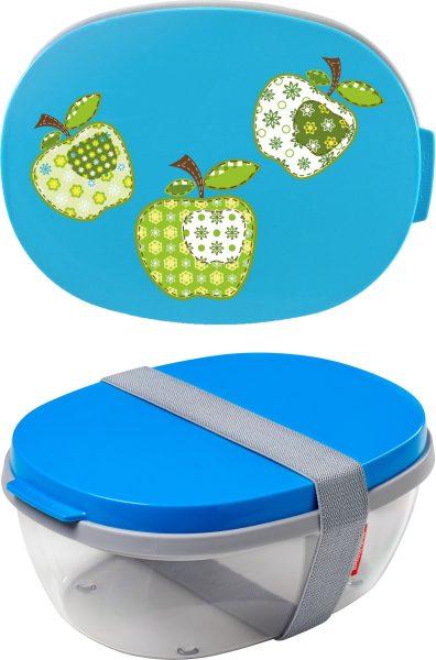 Salatbox Ellipse Aqua Äpfel