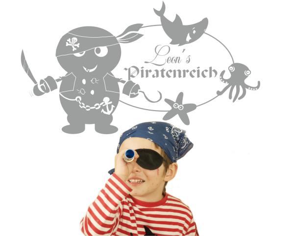 """Wandtattoo """"Piratenreich"""""""
