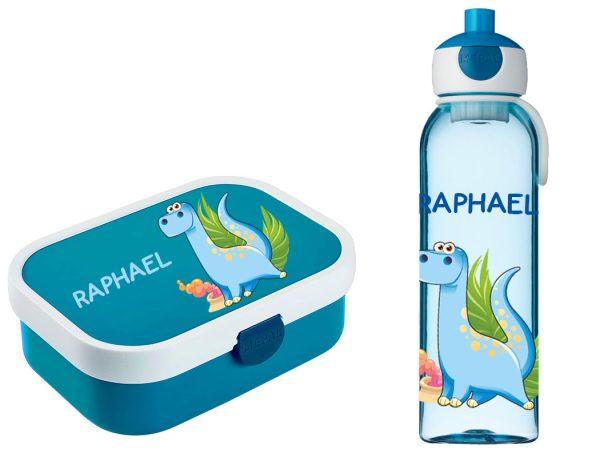 Brotzeitset Mepal Campus + Campus Wasserflasche mit Bento Box und Gabel Blau vers. Motive