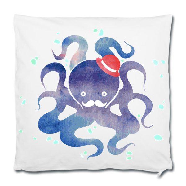 Dekokissen Kissen Watercolor Oktopus