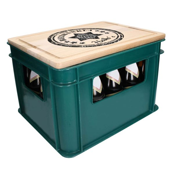 Bierkastensitz Bierbänkla Bierbank mit Stern rustikal Holzbrett mit Namen