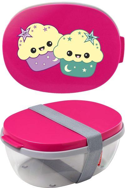 Salatbox Ellipse Pink Muffins