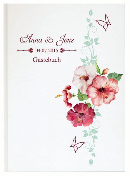 Personalisiertes Gästebuch für Ihre Hochzeit (Motiv 18)