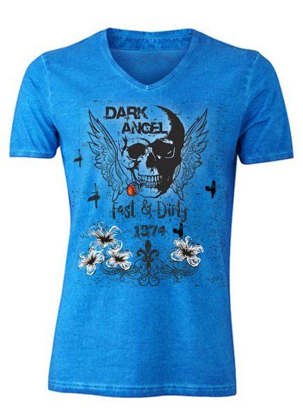 Herren Gipsy V-Neck T-Shirt Dark Angel