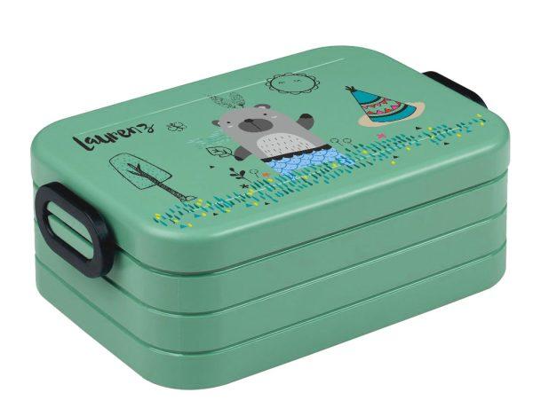 Brotdose Lunchbox Maxi Take A Break midi BENTO Box mit Gabel Nordic Green, vers. Motive