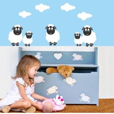 Wandtattoo Lustige Schafe