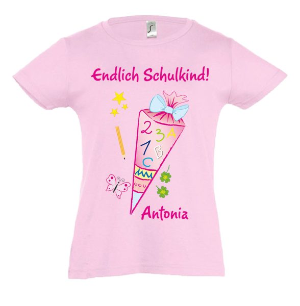 Schulanfang T-Shirt tailliert für Mädchen