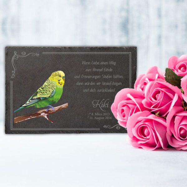 Gedenktafel fürs Tier Vogel