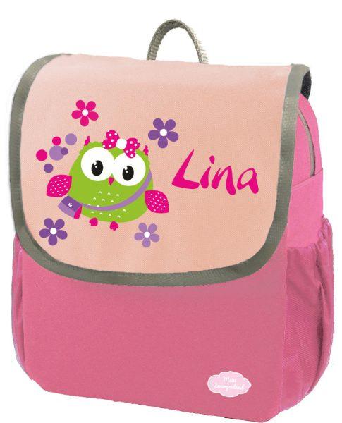 Kindergartenrucksack Happy Knirps NEXT mit Name Pink Eule