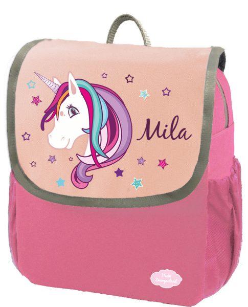 Kindergartenrucksack Happy Knirps NEXT mit Name Pink Einhorn Beauty