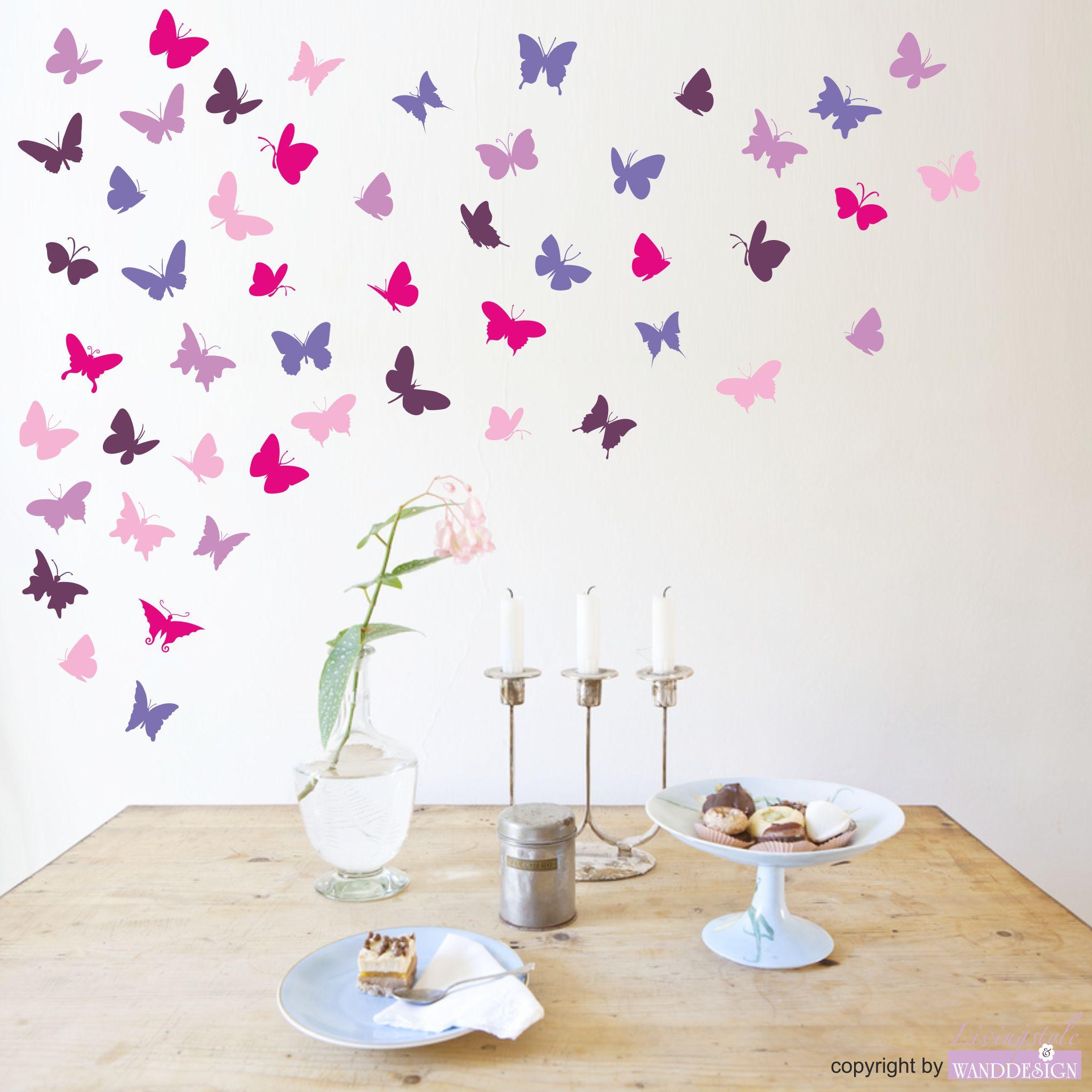 """Eitelkeit Wandtattoo Schmetterling Dekoration Von """"minifalter"""" 50 Stück   Schmetterlinge Und Blumen"""
