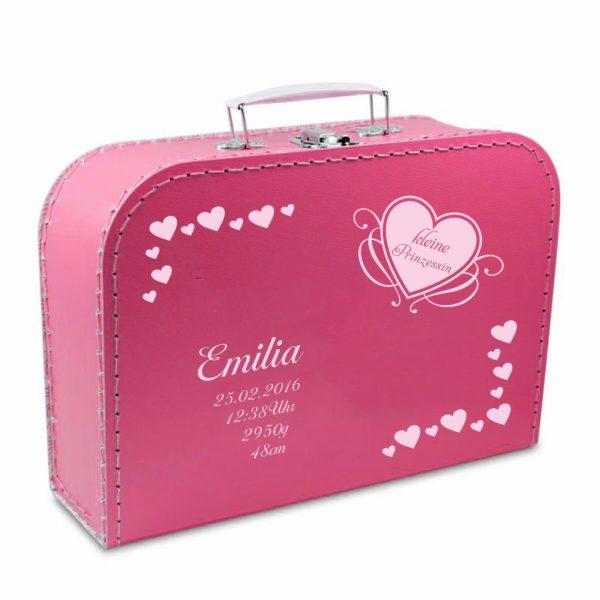 Geschenkkoffer pink Herzen