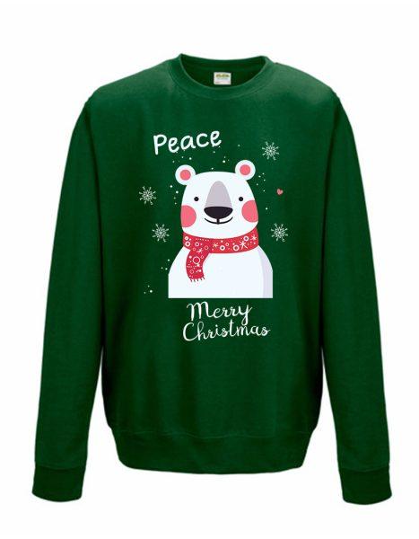 Sweatshirt Shirt Pullover Pulli Unisex Weihnachten Winter Bär