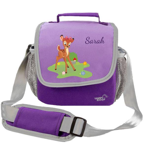 Kindergartentasche Happy Knirps lila Reh