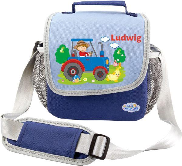 Kindergartentasche Happy Knirps blau Traktor