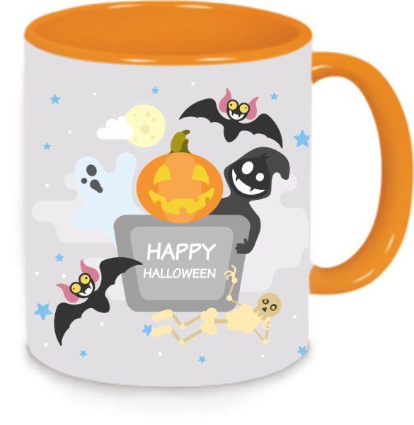 Tasse Orange Halloweenparty