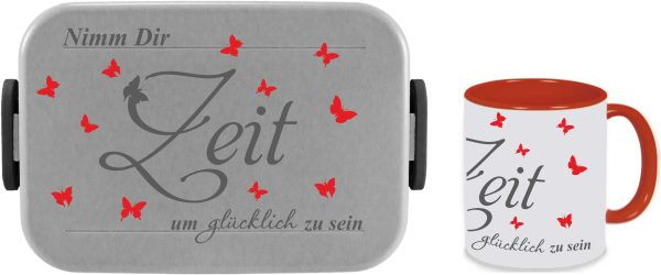 Bento Brotdose Take A Break Large - Tasse - Nimm dir Zeit