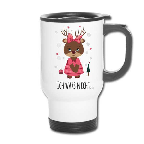 Thermobecher Weihnachten Christmas Xmas Elch Rentier Mädchen