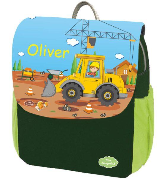 Kindergartenrucksack Happy Knirps NEXT Print mit Name, Grün Motivauswahl