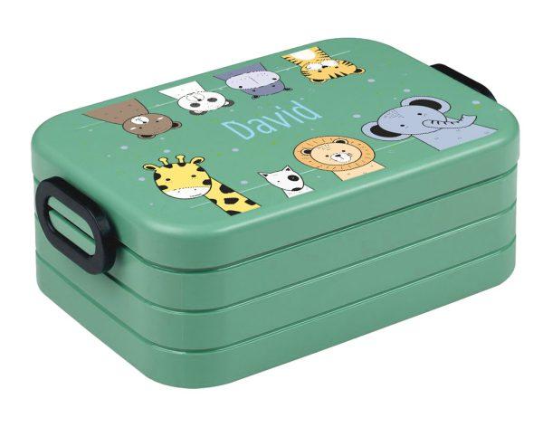 Brotdose Lunchbox Maxi Take A Break midi BENTO Box mit Gabel Afrikatiere