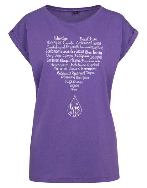 Damen T-Shirt Extended Shoulder Tee Ätherische Öle   T-Shirts ... cf762082fd
