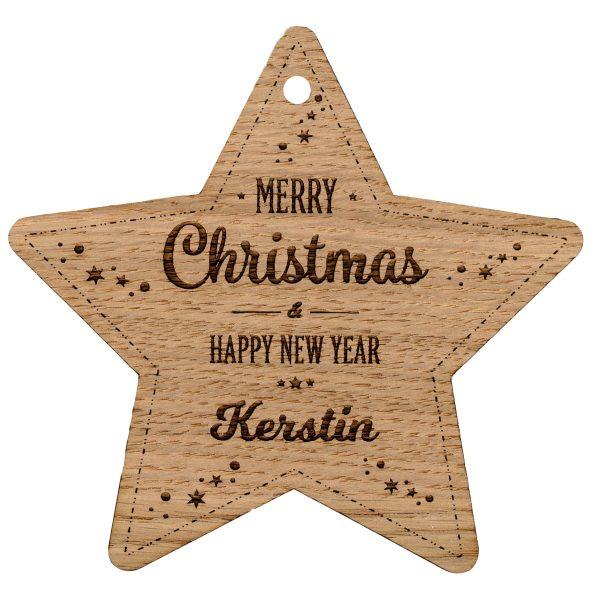 Personalisierter Weihnachtsstern Weihnachtsanhänger Geschenkanhänger Stern