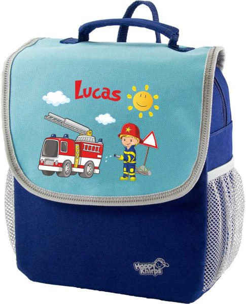 Kindergartenrucksack Happy Knirps NEXT Mit Name, Blau Motivauswahl