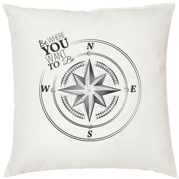 Dekokissen Kissen Maritim Kompass
