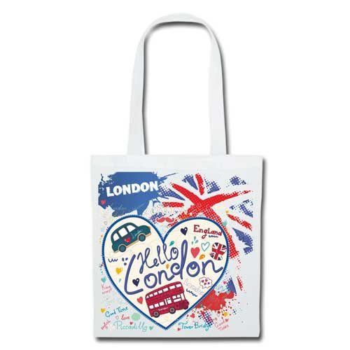 Stofftasche weiss London