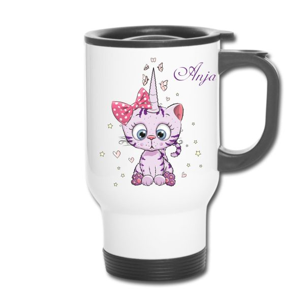 Thermobecher - Unicorn Katze Cat Caticorn Kittykorn