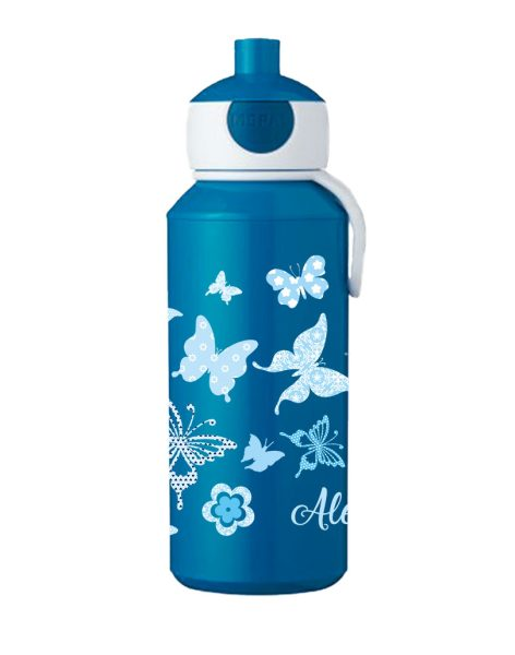 Trinkflasche Mepal Campus Pop-Up Blau Schmetterlinge