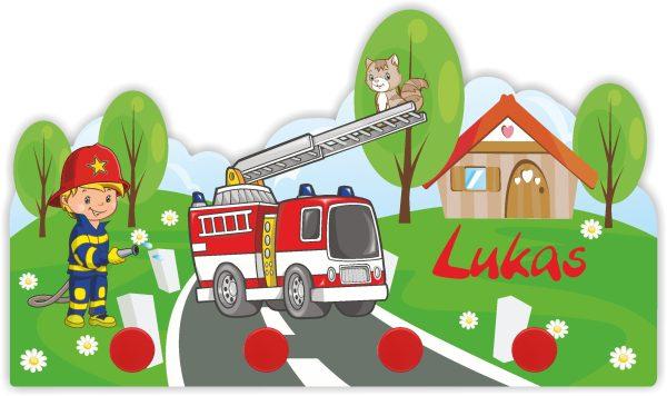 Kindergarderobe Feuerwehr
