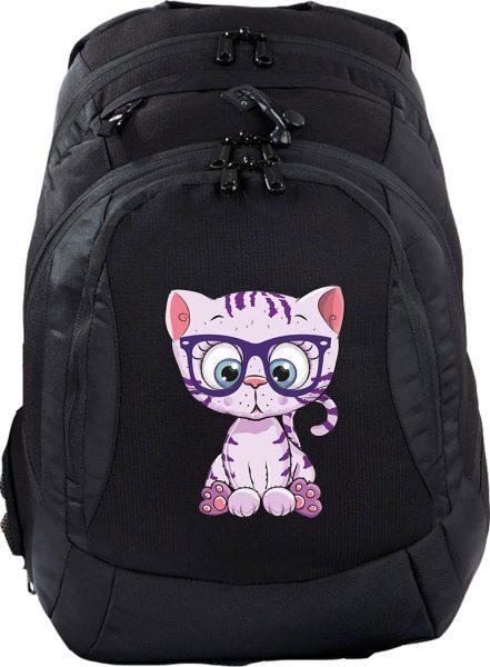 Schulrucksack Teen Compact Katze mit Brille