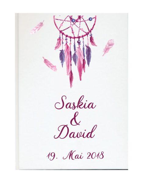 Personalisiertes Gästebuch für Ihre Hochzeit (Motiv 65)