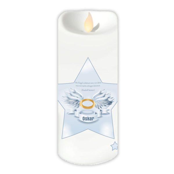 LED Kerze Twinkle Trauerkerze Stern