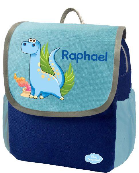 Kindergartenrucksack Happy Knirps NEXT mit Name Blau Dino