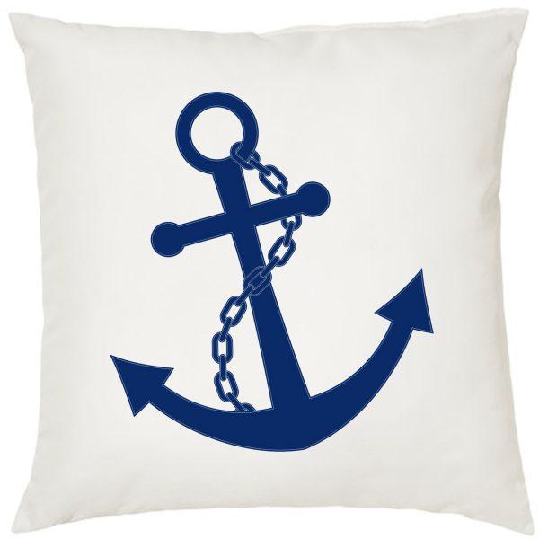 Dekokissen Kissen Maritim Anker navy