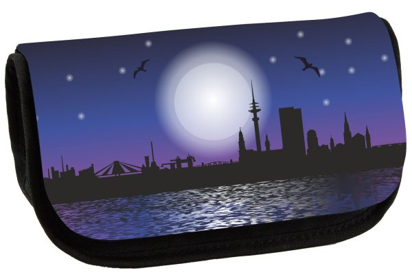 Schminktasche Skyline Sunset Hamburg