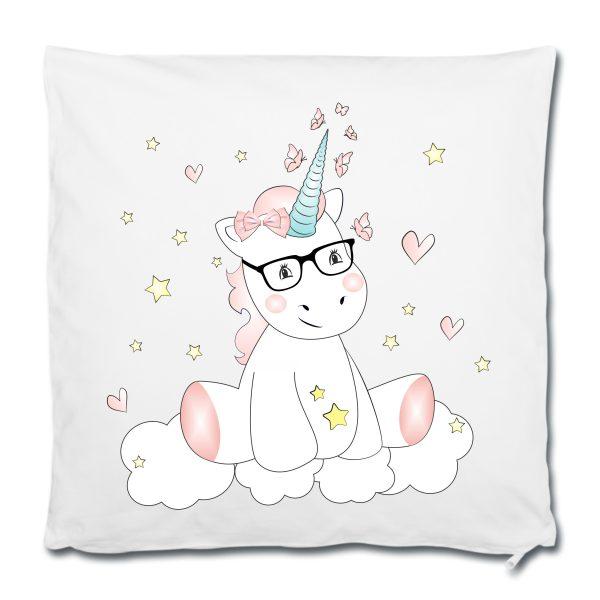 Dekokissen Kissen Einhorn cutie mit Brille