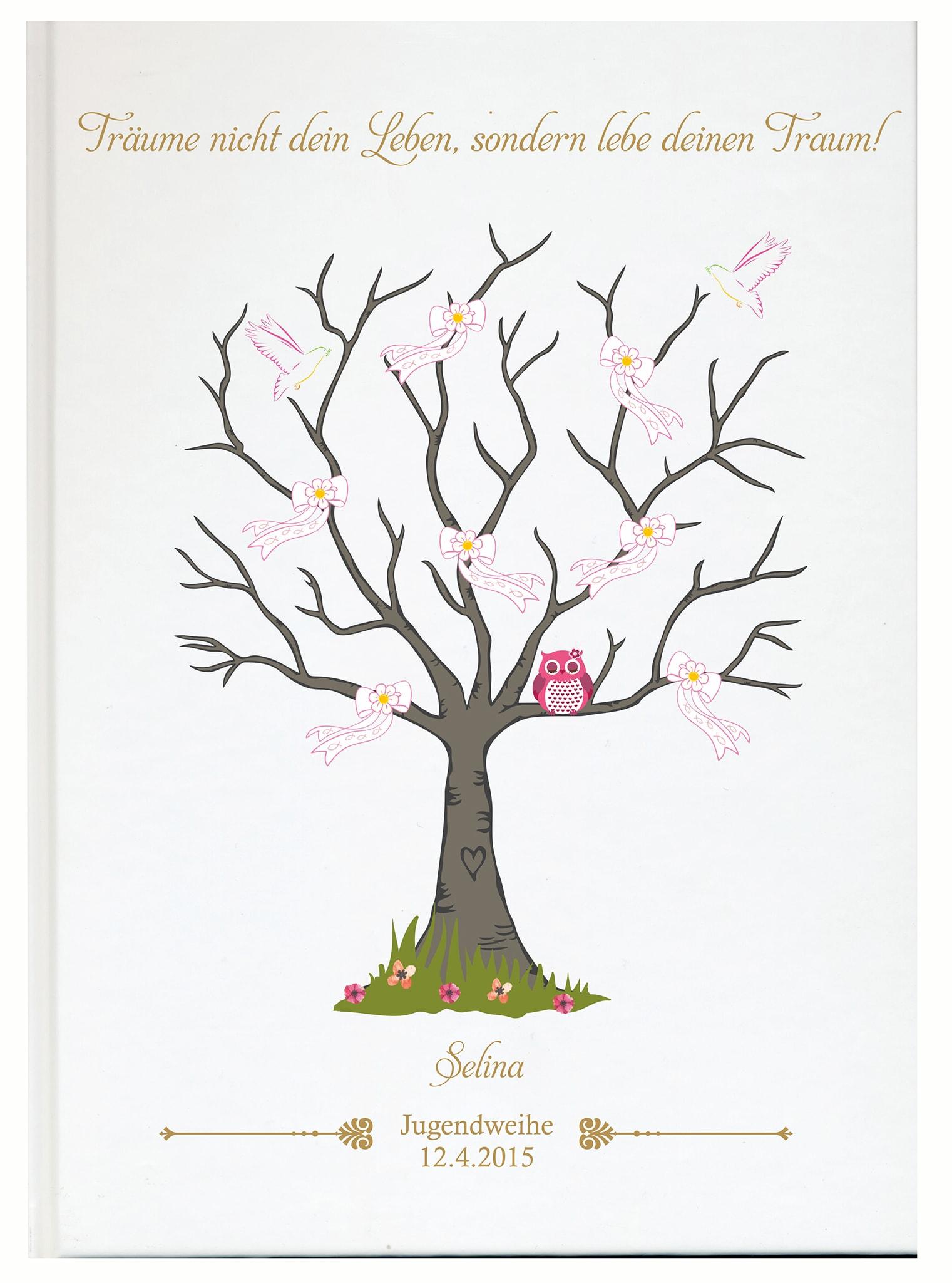 personalisiertes g stebuch zur jugendweihe rosa g steb cher konfirmation kommunion. Black Bedroom Furniture Sets. Home Design Ideas