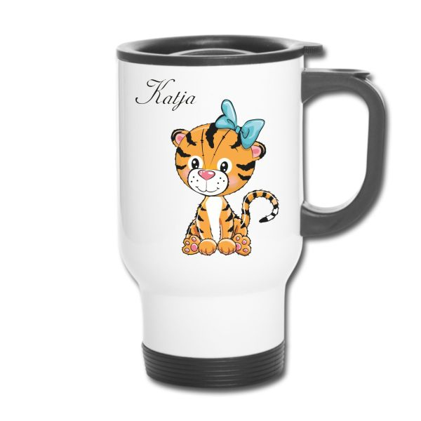 Thermobecher - Tiger Tigermädchen