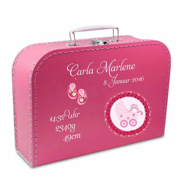 Geschenkkoffer pink Wagen