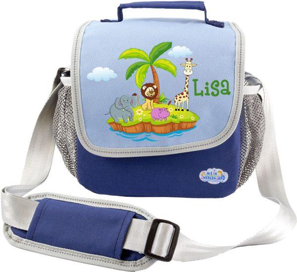 Kindergartentasche Happy Knirps blau Tierinsel