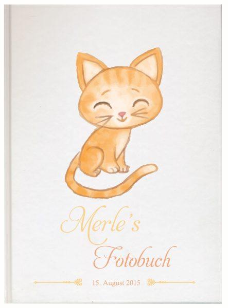 Fotoalbum für Tiere Katze orange sitzend