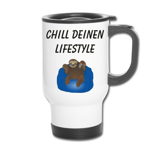 Thermobecher - Faultier Chill deinen Lifestyle