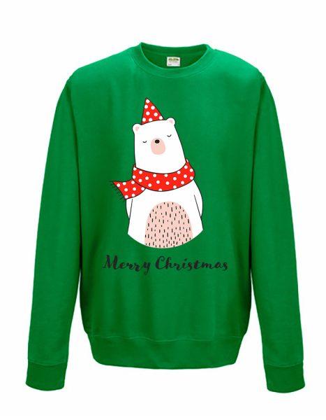 Sweatshirt Shirt Pullover Pulli Unisex Weihnachten Winter Eisbär